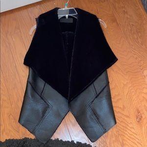 Blank Nyc black fur vest